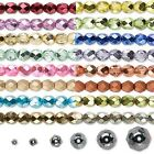 Lot of 1,200 Fancy Colored Czech Fire Polished Round Glass Beads in Many Sizes