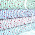 SUMMER FLORAL STRIPE - COTTON FABRIC Patchwork Fashion PINK BLUE GREEN LILAC