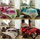 CHIC FLORAL Vintage Cotton Blend Bedding Duvet Cover Shabby Quilt Cover Bed Set