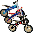 Kiddimoto Kurve Hero Wooden Balance No Pedal Running Training Walking Bike Cycle