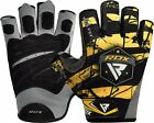RDX Weight lifting Body Building Wrist Support Gym Gloves Grip Training Fitness