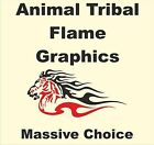 Animal Tribal Flames Stickers Vinyl Boat Cars Caravans Motorhomes Horseboxes