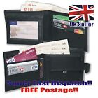 SOFT REAL LEATHER MENS WALLET CREDIT CARD BIFOLD NWT