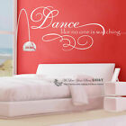 "Removable Wall Art Quotes Vinyl Decal Stickers ""Dance Like No One Is Watching"""