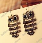 A Pair European Style Lovely Owl Big Black Eyes Animals Dangle Earring