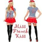 Miss French Kiss Costume -  4 Piece Sexy Outfit - Fancy Dress or Fantasy Wear