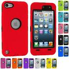 DELUXE HYBRID 3-PIECE COLOR CASE COVER for iPOD TOUCH 5TH GEN 5G+PROTECTOR