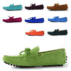US5-9 REAL Leather casual Lace Up SUEDE Loafer fashion mens boat shoes MOCCASIN