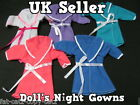 BARBIE SINDY DOLL'S CLOTHING DRESS OUTFIT NIGHTGOWN BATH ROBE 5 COLOURS UKSELLER
