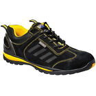 New PORTWEST Mens Work Safety Steelite Lusun Trainer Shoes Black Yellow 11 Sizes