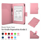 Folio PU Leather Case Cover w/ Stylus Holder For Amazon Kindle Paperwhite 5 & 4