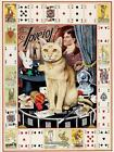 Magicians Cat Print by Geoff Tristram Canvas Picture Poster Painting A3 A2 or A1