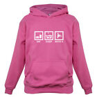 Eat Sleep Moto X Kids / Childrens Motocross Hoodie - 7 Colours XS-XXL
