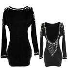 2013 Sexy Vintage Lady Long Sleeve Backless Beads Sequins Mini Dress Party Club