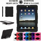 iPad 2 3 4 Tough Military Hard Rugged HEAVY DUTY Shock Protective Survival Case