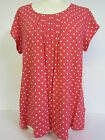 Ladies Ex-chainstore Stock Pink & White Spotted Short Sleeved Top sizes 18-22