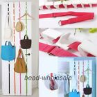 New 8 Hooks Straps Hat Bag Clothes Organizer Hanging Cap Rack Over Door Holder