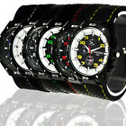 HOT NEW ELEGANT ROUND BIG TIMEPIECE SILICONE MILITARY MEN BOYS SPORTS WATCH, M36