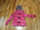 Route 66 Girl youth Girls Pink Satin Toggle Puffer Jacket Coat with Hood