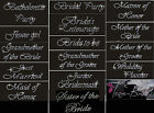 Внешний вид - CRYSTAL RHINESTONE BRIDAL WEDDING PARTY IRON ON TRANSFERS 16 DESIGNS TO CHOOSE