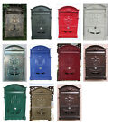Внешний вид - Vintage Retro Cast Aluminum Wall Mount Mailbox Mail Letter Box W/ Lock & Keys