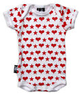 Six Bunnies HEARTS 'N' STARS baby grow vest Rock Punk Funky Biker Alternative