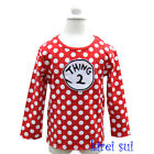 Girls Thing 2 Red White Polka Dots Party Minnie Mouse Long Sleeves Top 1-7Y