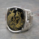Pisces Zodiac Astrology Sign Sterling Silver Wire Wrapped Ring ANY Size
