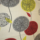 Chess Sunflower Clocks Teal & Berry Curtain Blind Upholstery Fabric