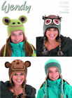 WENDY ~Unisex Animal Hats~ CROCHET DK PATTERN *Choice of Two*