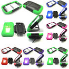 Any VHS Hybrid Kickstand Hard+Silicone Case For Samsung SGH-S390G Prepaid Phone