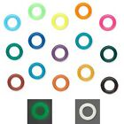 Lot of 300 10mm Round Rubber Ring Spacer Rondelle Disc Beads with Big 6mm Hole