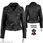 Aviatrix Ladies Womens Genuine Leather Biker Style Chopper Jacket  353
