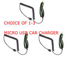 1, 2 or 3 Micro USB Car Charger For  LG Optimus Zip Slider L75C Prepaid Phone