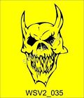 SKULL Gothic Wall Decal Stickers Massive Selection WSV2_035