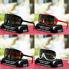 New Mens Shield Design Fashion Sunglasses Large Sports Classic Black Shade UV400