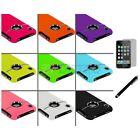 Deluxe Hard Case Cover Chrome Stand+LCD Film+Stylus for iPhone 3G S 3GS