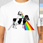 DARK SIDE OF THE MOO T-Shirt. Multiple Colours & Sizes. Pink Floyd Starwars Fan