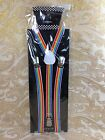40 Colors Mens Womens Clip-on Suspenders Elastic Y-Shape Adjustable Braces