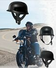 Fly Racing 9MM Half Helmet Gloss Black XL Extra Large Custom Chopper Harley