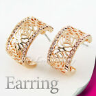 Classic 18K GP Rose Earring Use Swarovski Crystal 2190 Free Pouch