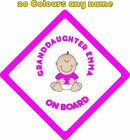 Personalised Baby on Board Car Stickers Decals Granddaughter A683