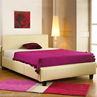 FAUX LEATHER 2FT6/3FT/3FT6/4FT/4FT6/5FT/6FT BEDSTEAD + MEMORY OR ORTHO MATTRESS