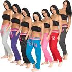 New Womens Ladies R-NYC Fleece Tracksuit Jogging Bottoms Joggers Size 8 10 12 14