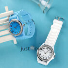 Cute Women Girls Little Glitter Rhinestones Dial Alloy  Silicon Band Wrist Watch