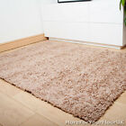Mid Beige Thick Shaggy Rug, Thick Pile, Soft Touch, Great Quality, Cheap Price