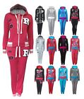 Womens Tracksuit Hooded Zip Top Jogging Bottoms Set Ladies New UK 8 10 12 14 16