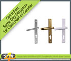 Hoppe UPVC Door Handle 70mm PZ 199mm Fixing Screw Centres White or Gold Colour