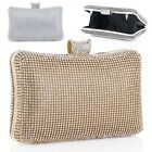 GK Women's Rhinestones Pillow Hard Case Purse Clutch Cocktail Boxes Evening Bag