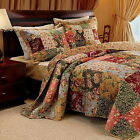 French Country Floral Patchwork Cotton Bedspread Set Super Size (to the floor)  image